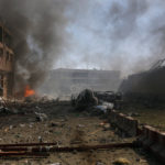 Damaged cars are seen after a blast in Kabul, Afghanistan