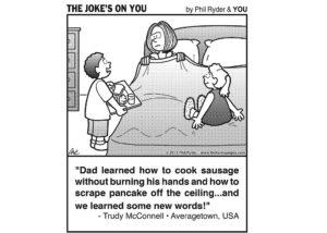 Funny Cartoon: Breakfast In Bed