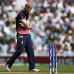 England's Ben Stokes looks dejected