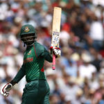 Bangladesh's Tamim Iqbal celebrates his fifty