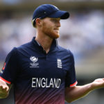 England's Ben Stokes gestures to fans