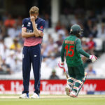 England's Jake Ball looks dejected after Bangladesh's Mushfiqur Rahim hits a four