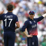 England's Eoin Morgan and Liam Plunkett