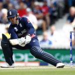 England's Jason Roy loses his wicket