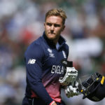 England's Jason Roy walks off after losing his wicket