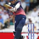 England's Alex Hales in action