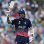 England's Alex Hales celebrates his fifty