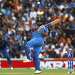 India's Rohit Sharma in action
