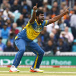 Sri Lanka's Thisara Perera makes an appeal