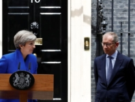 Britain's Prime Minister Theresa May addresses the country after Britain's election at Downing Street in London