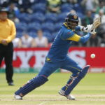Sri Lanka's Angelo Mathews in action