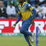 Mohammad Hafeez of Sri Lanka celebrates as he catches Thisara Perera of Pakistan