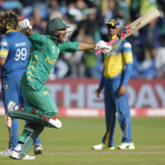 Pakistan's Sarfraz Ahmed celebrates at the end