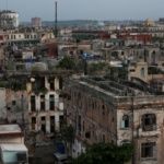 Buildings are seen in a Old Havana