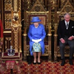 Britain's Queen Elizabeth and Prince Charles attend the State Opening of Parliament in central London