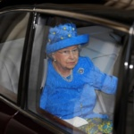 Britain's Queen Elizabeth's leaves the State Opening of Parliament in central London