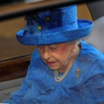 Britain's Queen Elizabeth's arrives at the State Opening of Parliament in central London